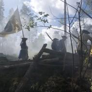 Museet HAMN ett slagfält i rök