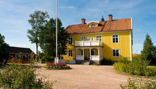 Stort gult hus